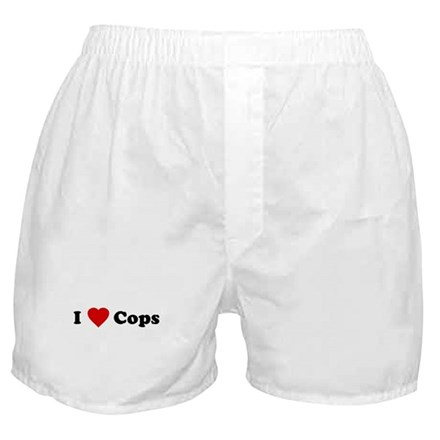 I Love [Heart] Cops Boxer Shorts