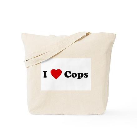 I Love [Heart] Cops Tote Bag