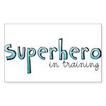 Superhero in training Rectangle Sticker