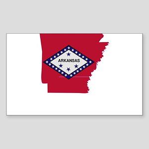 Arkansas Stripe Custom Design Rectangle Sticker