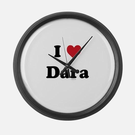 I love Dara Large Wall Clock