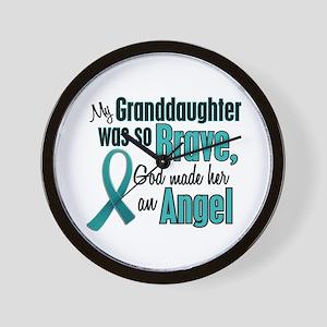 Angel 1 TEAL (Granddaughter) Wall Clock