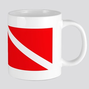 Diver Down Flag Stainless Steel Travel Mugs