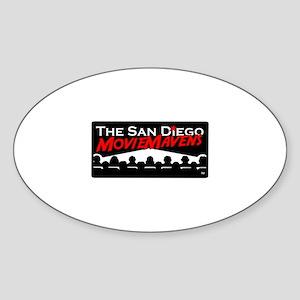 The San Diego MovieMavens Oval Sticker