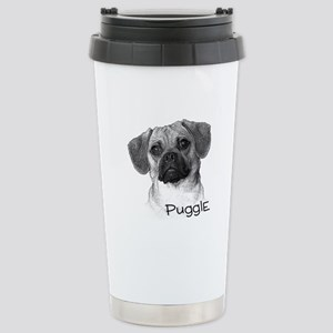 Perfect Puggle Portrait Stainless Steel Travel Mug