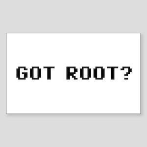 Got Root Rectangle Sticker 10 pk)