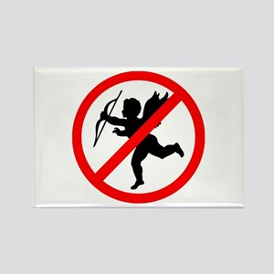 No cupids allowed /2 Rectangle Magnet