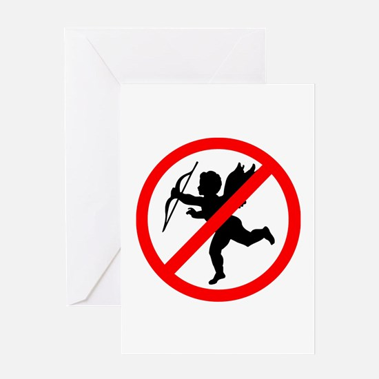 No cupids allowed /2 Greeting Card