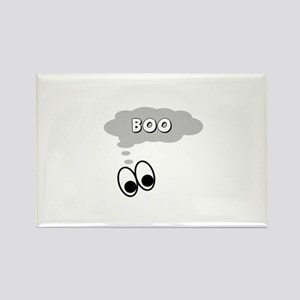 Ghost Eyes Boo Rectangle Magnet