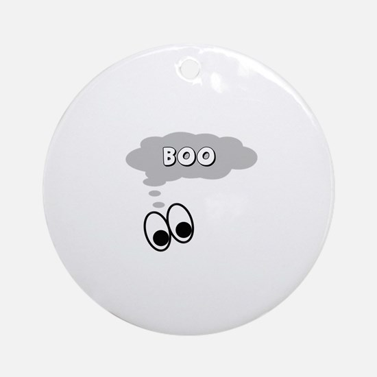 Ghost Eyes Boo Ornament (Round)