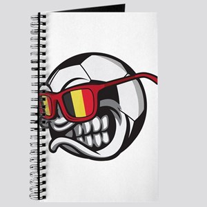 Belgium Angry Soccer Ball with Sunglasses Journal