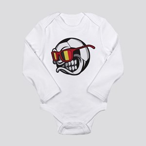 Belgium Angry Soccer Ball with Sunglasse Body Suit