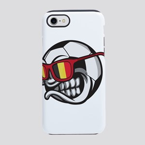 Belgium Angry Soccer Ball wi iPhone 8/7 Tough Case