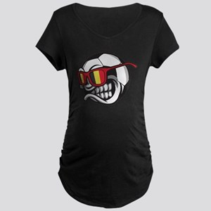 Belgium Angry Soccer Ball with S Maternity T-Shirt