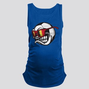 Belgium Angry Soccer Ball with Sunglasses Tank Top