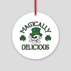Magically Delicious Skull Ornament (Round)