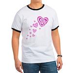 Pink Celtic Hearts Ringer T