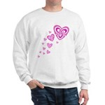 Pink Celtic Hearts Sweatshirt