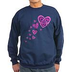 Pink Celtic Hearts Sweatshirt (dark)