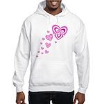Pink Celtic Hearts Hooded Sweatshirt