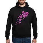 Pink Celtic Hearts Hoodie (dark)