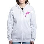 Pink Celtic Hearts Women's Zip Hoodie