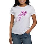 Pink Celtic Hearts Women's T-Shirt