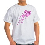 Pink Celtic Hearts Light T-Shirt