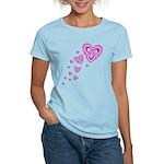 Pink Celtic Hearts Women's Light T-Shirt