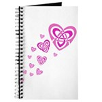 Pink Celtic Hearts Journal