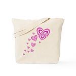 Pink Celtic Hearts Tote Bag
