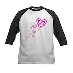 Pink Celtic Hearts Kids Baseball Jersey