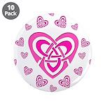 Pink Celtic Hearts 3.5