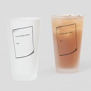 Ron's Permit Drinking Glass