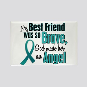 Angel 1 TEAL (Best Friend) Rectangle Magnet