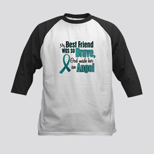 Angel 1 TEAL (Best Friend) Kids Baseball Jersey
