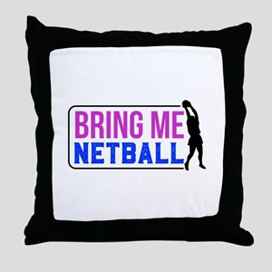 Bring Me Netball Colorful Throw Pillow