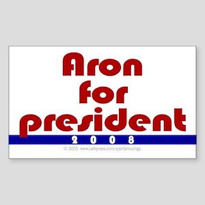 Aron for president. Rectangle Sticker