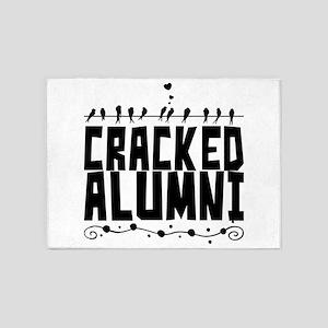 Cracked Alumni 5'x7'Area Rug