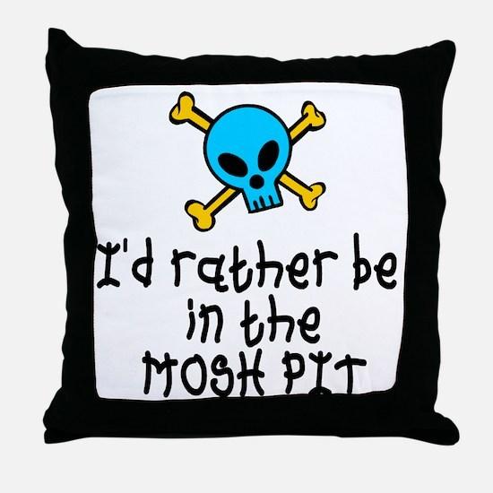 RockBaby Mosh Pit Throw Pillow
