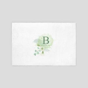Herbal Floral Monogram 4' x 6' Rug