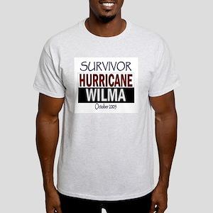 Survived Hurricane Wilma Ash Grey T-Shirt