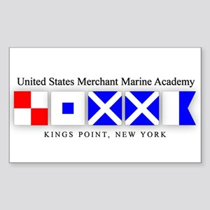 USMMA 1 Rectangle Sticker