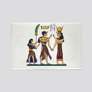 Queen Isis & Ramesses Rectangle Magnet