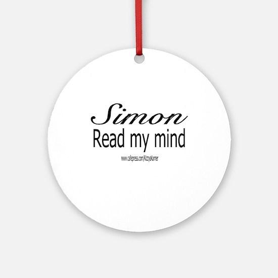 SIMON MENTALIST Ornament (Round)
