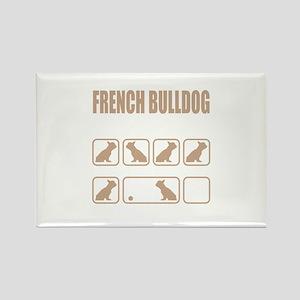 Stubborn French Bulldog Tricks design Magnets