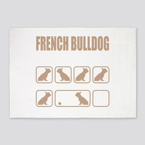 Stubborn French Bulldog Tricks desi 5'x7'Area Rug