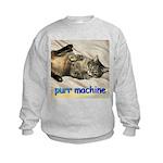 purr machine Kids Sweatshirt