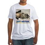 purr machine Fitted T-Shirt