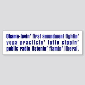 Flaming Liberal - Bumper Sticker